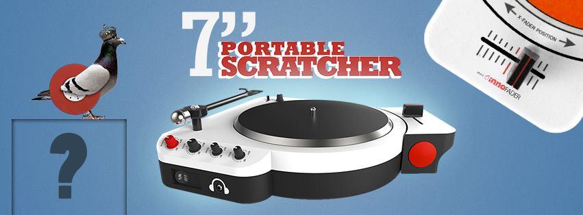"Check out the 7"" Portable Scratcher concept design"