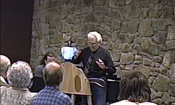 Watch Bob Moog perform a theremin demonstration