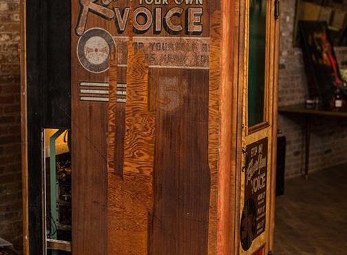 Phonica Records installs an Aberlour Voice-O-Graph for a limited period