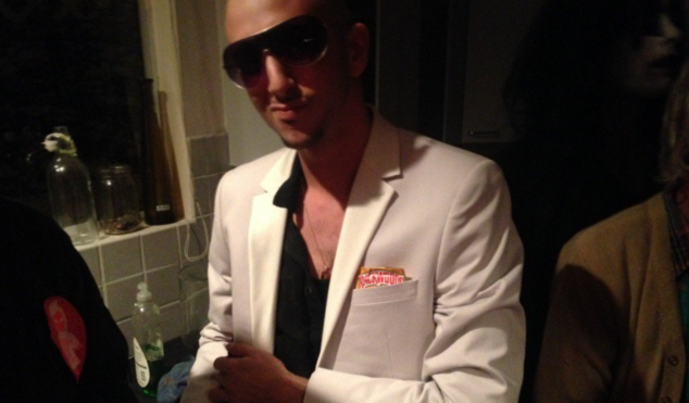 Shlohmo dressed up as Pitbull for Halloween and it was beautiful