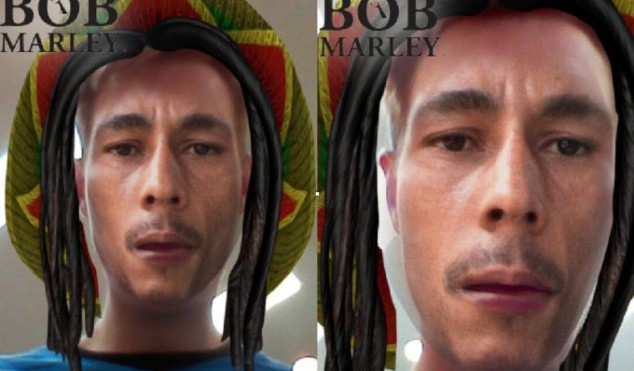 "Snapchat attacked over ""blackface"" Bob Marley filter for 4/20"