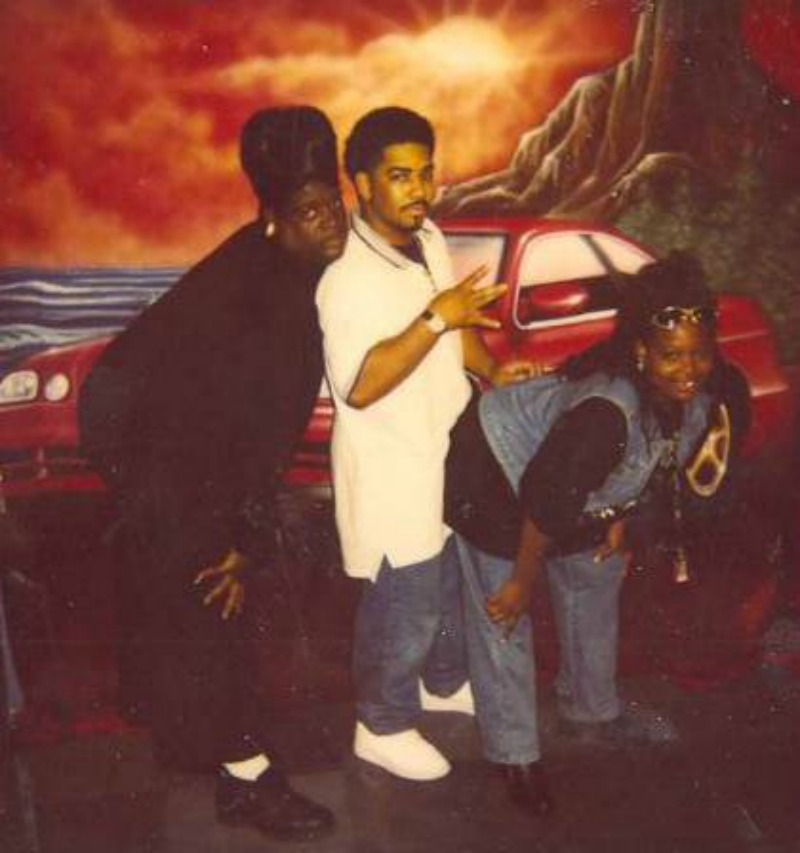 Big Tony, Diamond K, Big Ria after a performance in 1996