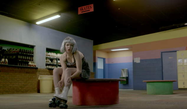 Angel Olsen is queen of the roller rink in 'Shut Up, Kiss Me' video