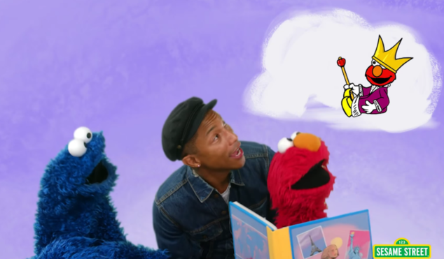 Watch Pharrell on Sesame Street with Elmo and Cookie Monster
