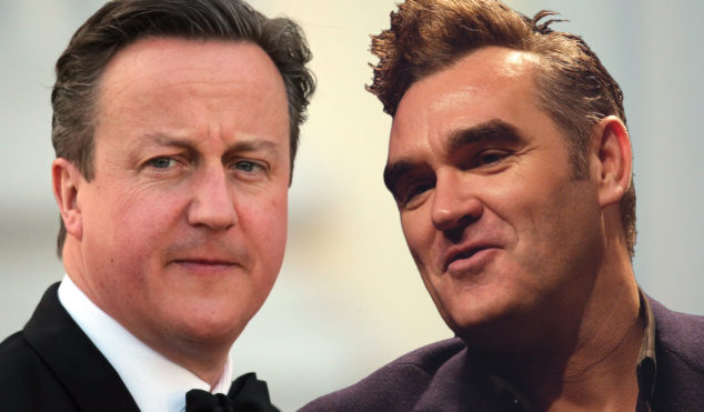 "David Cameron calls Morrissey ""my favourite man"", ruins his lyrics like he ruined the economy"