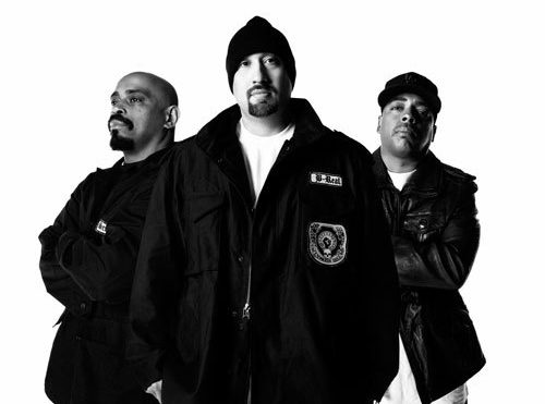 Cypress Hill reissue debut album in black resin skull sculpture