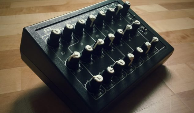 This analog drum machine is inspired by vintage Soviet-era hardware