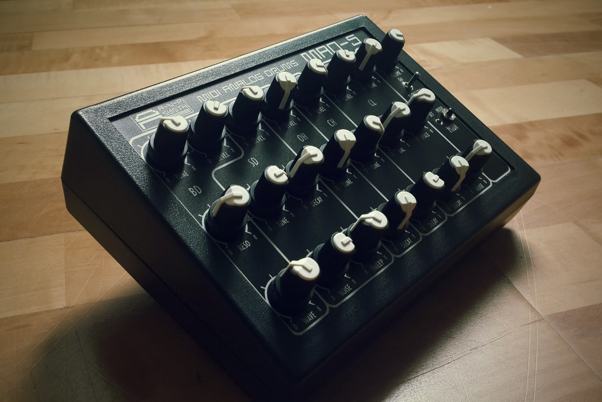 This drum machine is inspired by vintage Soviet-era hardware