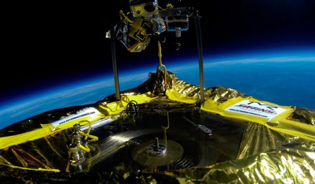 Watch Jack White succeed in his mission to play the first vinyl record in space