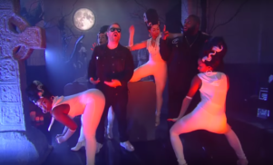 Watch Run the Jewels perform novelty song 'The Halloween Wiggle' with Stephen Colbert
