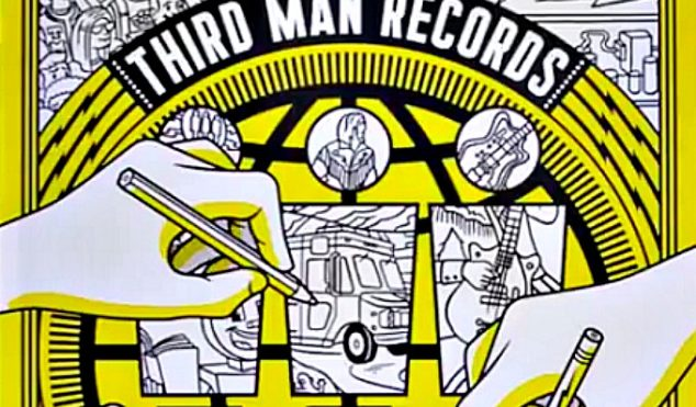 A vinyl-themed colouring book is out on Jack White's Third Man Records