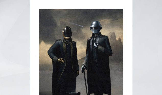 """Daft Punk release limited edition """"archival ink"""" portrait from 'Starboy' video"""