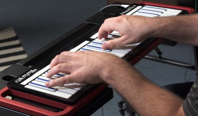 This expressive MIDI keyboard can produce sounds like a stringed instrument