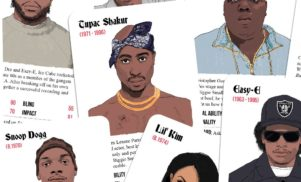 Rap card game pits your favorite '90s MCs against each other