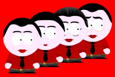 This is what Kraftwerk, Brian Eno and Throbbing Gristle would look like on South Park