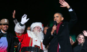 Watch President Obama sing 'Jingle Bells' with Chance The Rapper and Santa