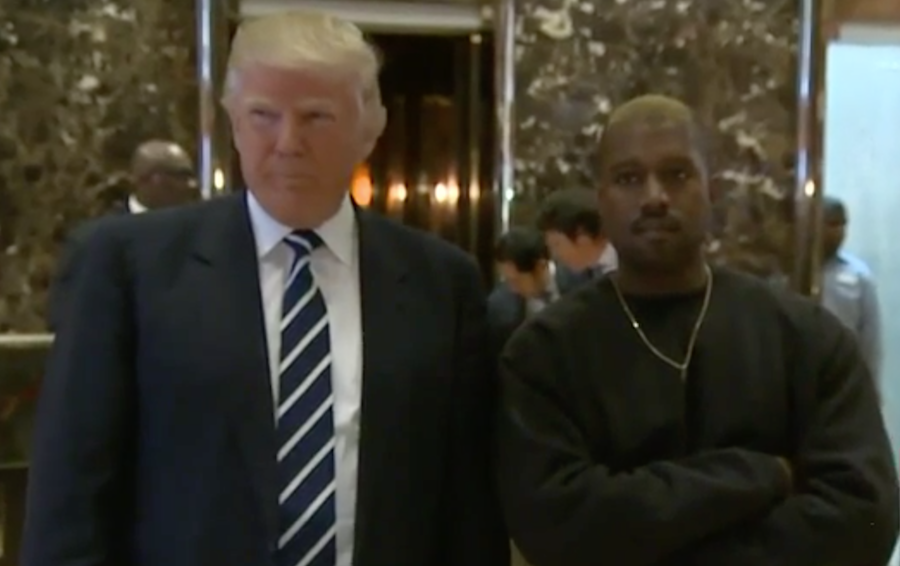 Kanye West is meeting with Donald Trump at Trump Tower right now