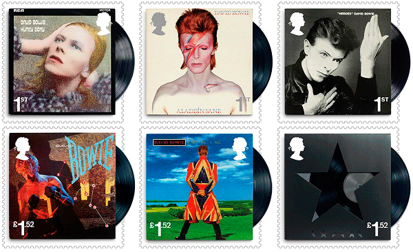 David Bowie stamps to be issued by Royal Mail