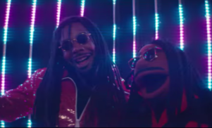 D.R.A.M hangs with a Muppet version of himself in his new video