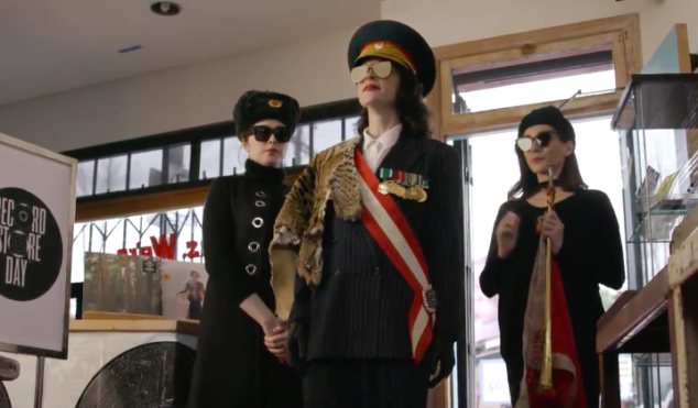St. Vincent is the ambassador for the mysterious island of Recordstoreda in Funny Or Die sketch