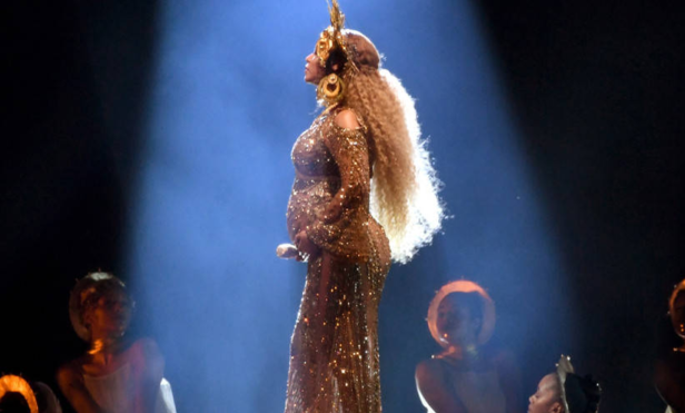 Beyoncé's gold Grammys dress took 50 people to embroider