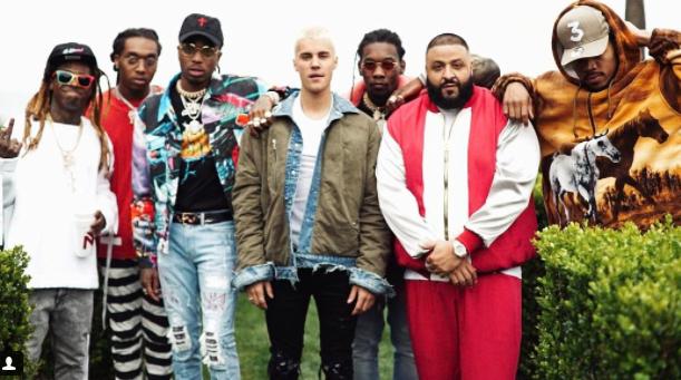DJ Khaled teases Lil Wayne, Chance The Rapper, Justin Bieber and Migos collaboration