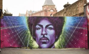 A huge Prince mural has appeared in London