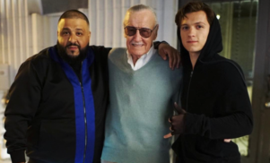 DJ Khaled, Stan Lee and Tom Holland