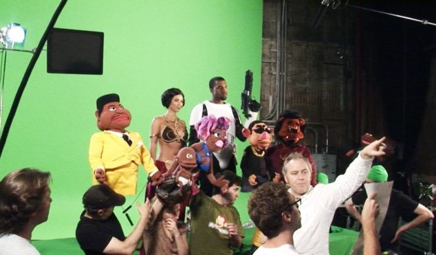 Take a look behind the scenes of Kanye's failed puppet show for Comedy Central