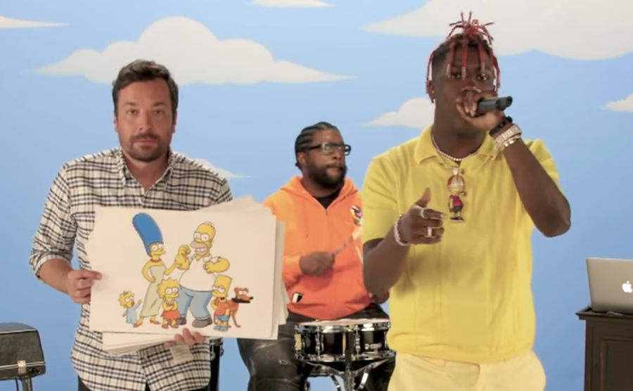 Watch Lil Yachty rap about 59 Simpsons characters