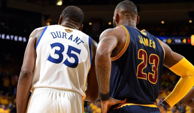 Basketball superstars (and rivals) Kevin Durant and LeBron James reportedly recorded a rap track together