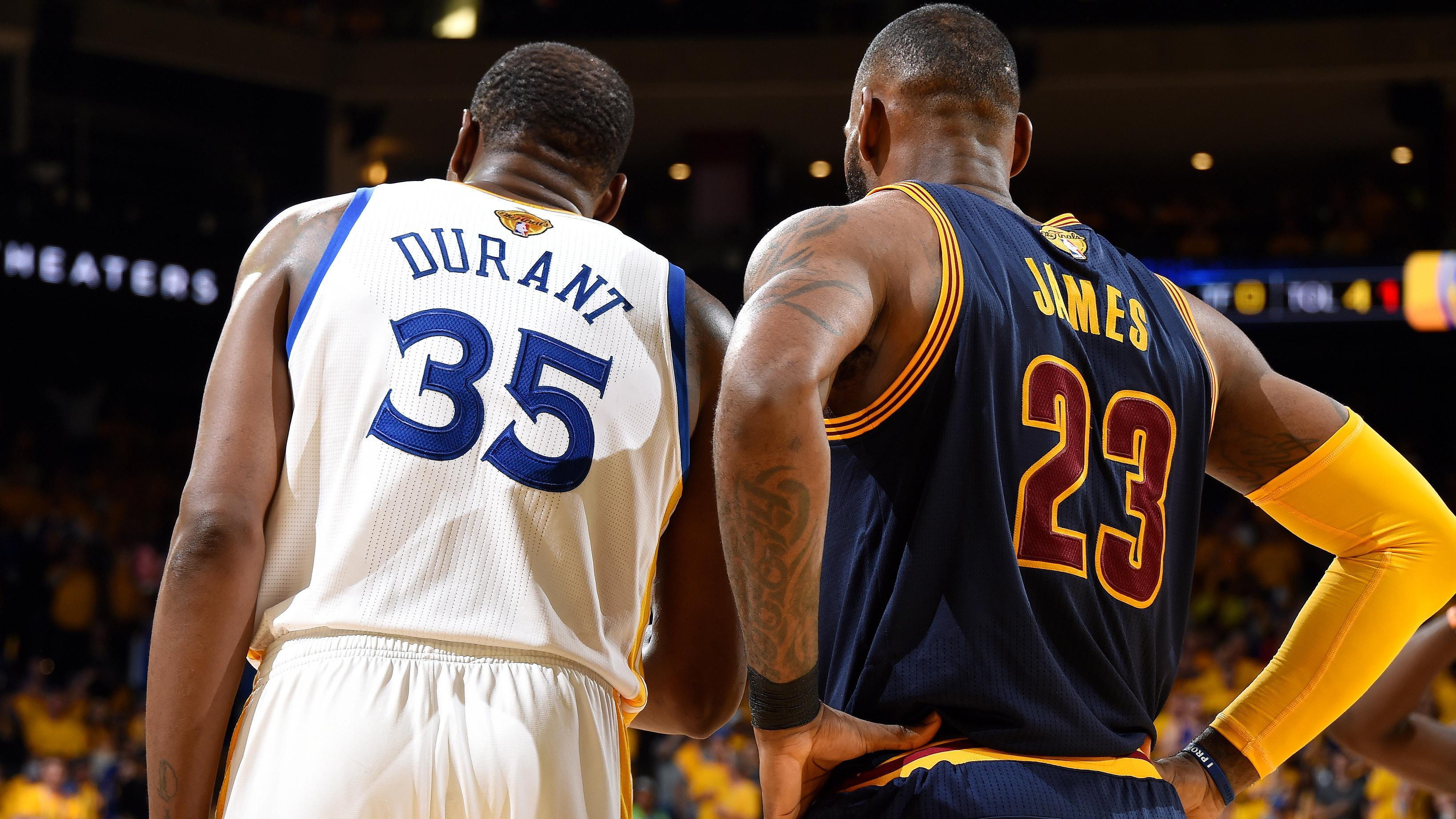Kevin Durant and LeBron James recorded