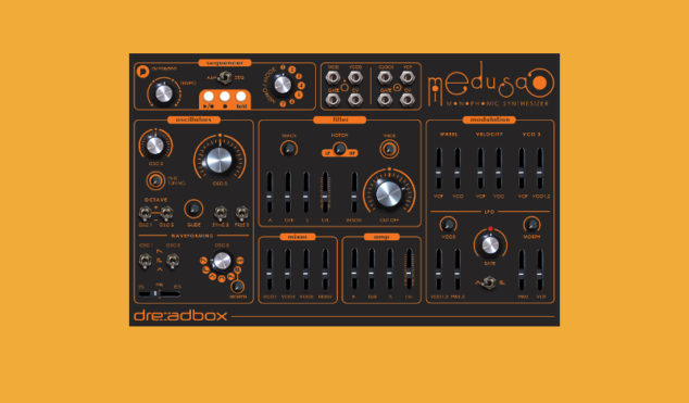 Dreadbox's Medusa is a patchable $500 monosynth with sequencer