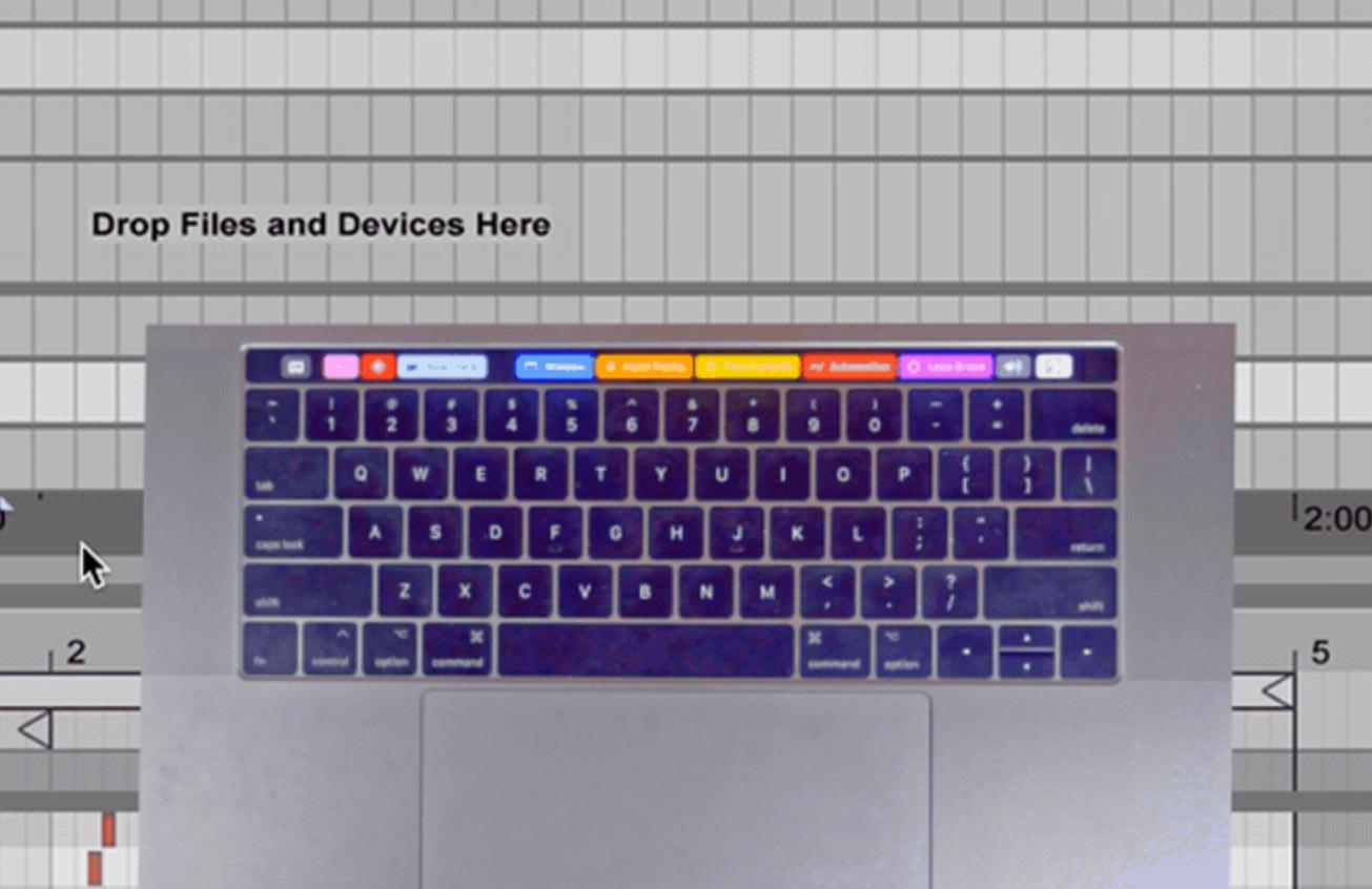 Ableton Live Touch Bar app