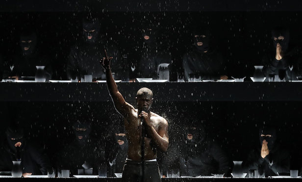 """Stormzy asks Theresa May """"where's the money for Grenfell"""" during ferocious Brit Awards freestyle"""