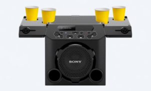 Sony's new Bluetooth party speaker has cup holders