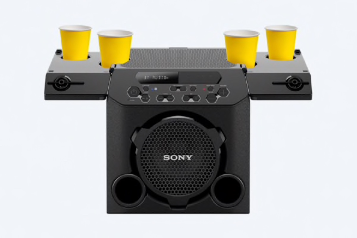 Sony S New Bluetooth Party Speaker Has Its Own Cup Holders