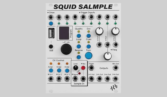 ALM Busy Circuits releases Squid Salmple, eight-channel Eurorack sampler