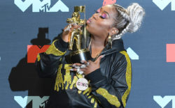 Portrait of Missy winning VMA aware