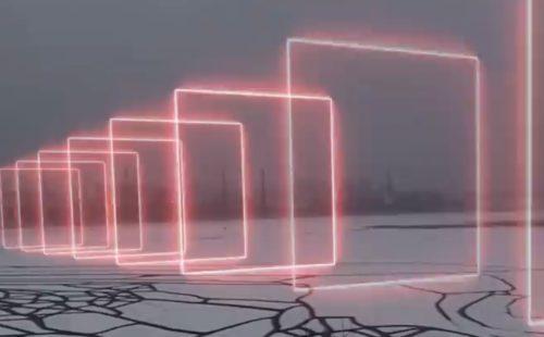 404.zero capture Saint Petersburg in lockdown with AR installation, Arrival