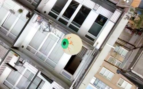 Mark Prendergast documents digital free fall with the dizzying EYE FALL
